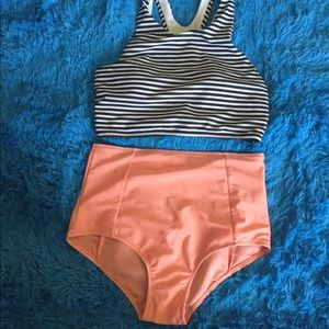 Other - High Waisted Bathing Suit Set